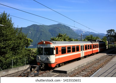 Lugano / Switzerland - June 01, 2019: Lugano station area, Lugano, Switzerland, Europe
