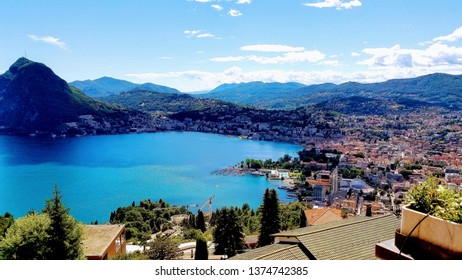 Lugano Switzerland Landscape Hilltop views near Italian border
