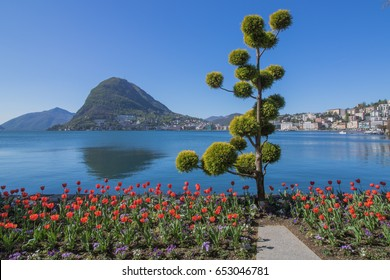 Lugano Switzerland, Park Ciani, Lake Lugano