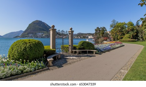Lugano Switzerland, Park Ciani, Lake Lugano