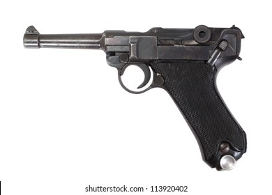 Luger P08 Parabellum handgun isolated
