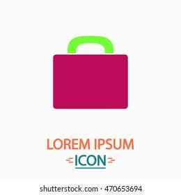luggage Color icon on white background. Flat pictogram