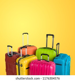 Luggage consisting of large suitcases rucksacks and