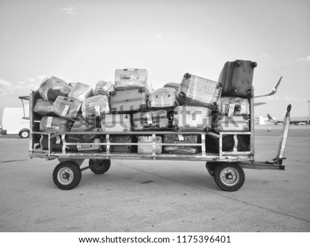 Luggage Trolley in Airport Apron