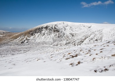 Lugnaquilla mountain in Wiclkow Mountains in Ireland