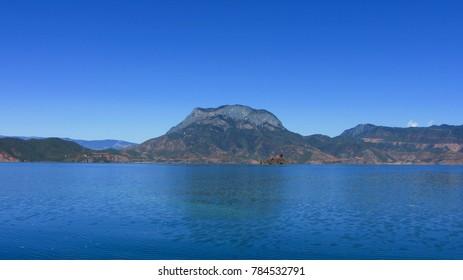 Lugu Lake, Lijiang City, Yunnan Province natural landscape