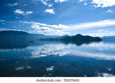 Lugu Lake is located in the North West Yunnan plateau in the centre of Ninglang Yi Autonomous County in China.
