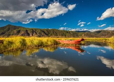 Lugu lake. Yunnan. China