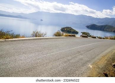"""luguhu""Lijiang in China, the lake road,"