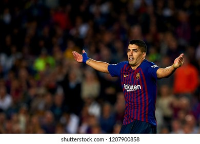 Luis Suarez during the week 9 of La Liga match between FC Barcelona and Sevilla FC at Camp Nou Stadium in Barcelona, Spain on October 20, 2018.