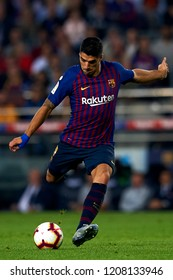 Luis Suarez shooting to goal  during the week 9 of La Liga match between FC Barcelona and Sevilla FC at Camp Nou Stadium in Barcelona, Spain on October 20, 2018.