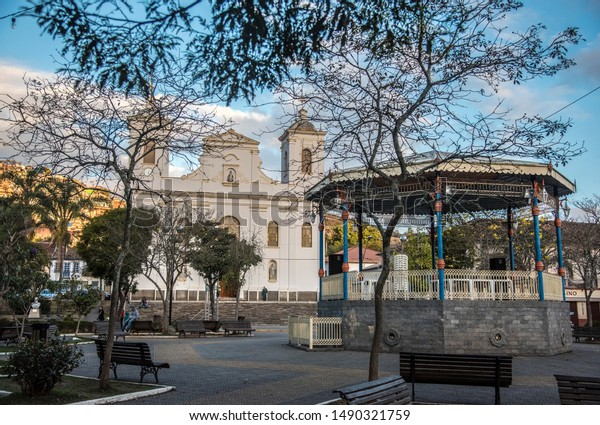 São Luiz do Paraitinga, SP, BR, August 24,2019 The square is the setting of the beautiful mother church of Sāo Luiz do Paraitinga.