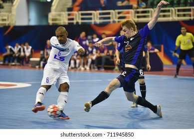 LUKAIAN BAPTISTA of THAI SON NAM during AFC Futsal Club Championship Vietnam 2017 Match THAI SON NAM and VIC VIPERS at Phu tho Stadium on July 22,2017 in Ho chi minh,Vietnam.