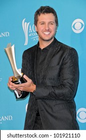 Luke Bryan  at the 45th Academy of Country Music Awards Press Room, MGM Grand Garden Arena, Las Vegas, NV. 04-18-10