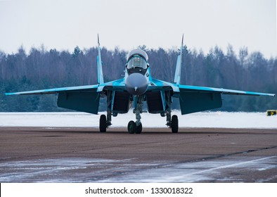 Lukhovitsy,Moscow Region, Russia - January 27,2017: Presentation of the new aviation system MiG-35.