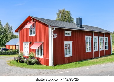 Lulea, Sweden - August 4, 2014:House at Gammelstad Lulea