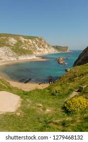 Lullworth cove in Dorset