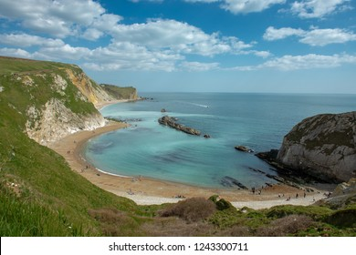 Lulworth Cove in Dorset, United Kingdom