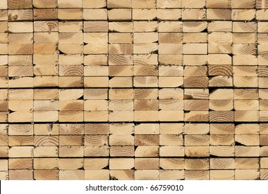 Lumber waiting for delivery