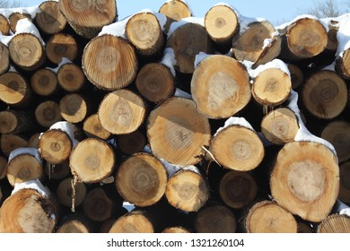 Lumber yard in the winter in Eastern Kentucky.
