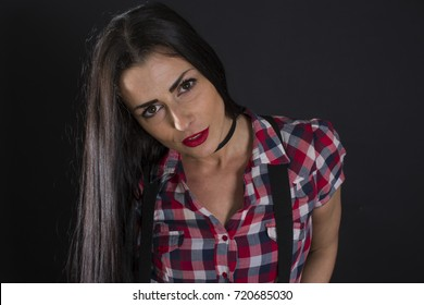 Lumberjack woman