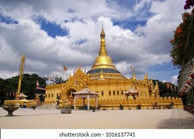 Lumbini Natural Park is a Buddhist temple located in Berastagi North Sumatera, Indonesia