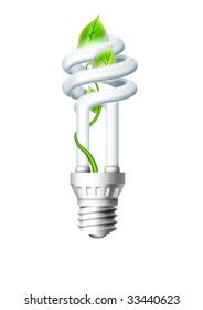 Luminous bulb on background.