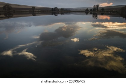 luminous clouds coming out of the water