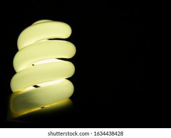 Luminous energy-saving lamp in the dark