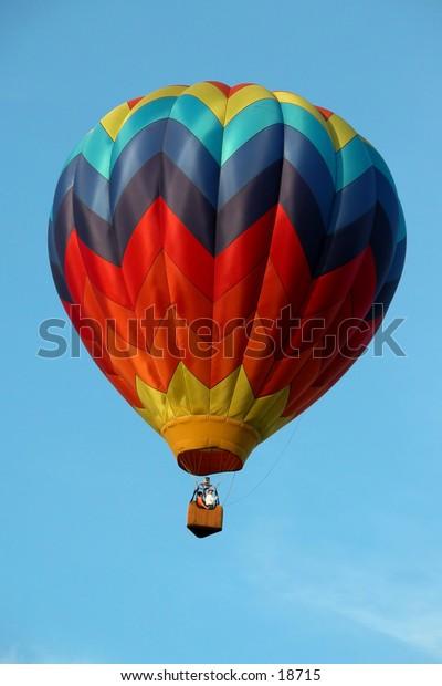 Luminous: Hot air ballon from First Annual Hugo Oklahoma Balloon Festival