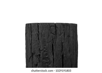 a lump of charcoal
