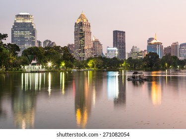 Lumphini park in Bangkok is one of the city major park and tourist attraction and is located between Silom and Sukhumvit road in the heart of Thailand capital city