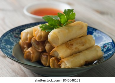 Lumpia Spring Rolls , asian food