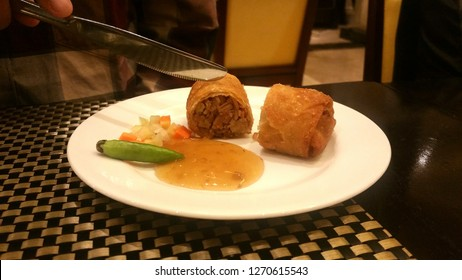 """Lumpia"" typical snack from Semarang City - Indonesia"