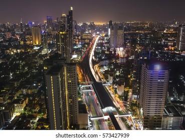 Lumpinee night street, Bangkok, Thailand