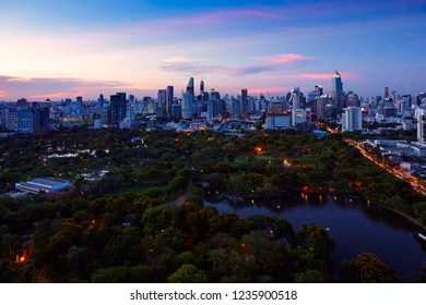 Lumpini park, The lungs of Bangkok city, Thailand