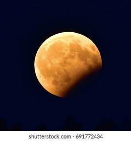 lunar eclipse the 07.08.2017