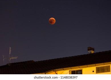 Lunar eclipse 27/07/2018 Bellante (Teramo) Abruzzo