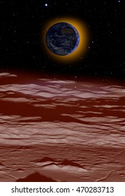 """Lunar eclipse, moon surface image """"Elements of this image furnished by NASA"""""""