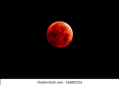 The Lunar Eclipse. Photographed from Riverdale Park, Toronto, Ontario, Canada.