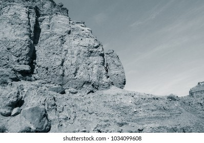 Lunar landscape of beautiful unknown Wadi in Jordan