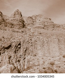 Lunar landscape of beautiful Wadi in Jordan