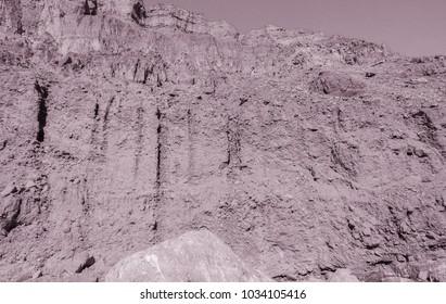 Lunar landscape of the lost river bed