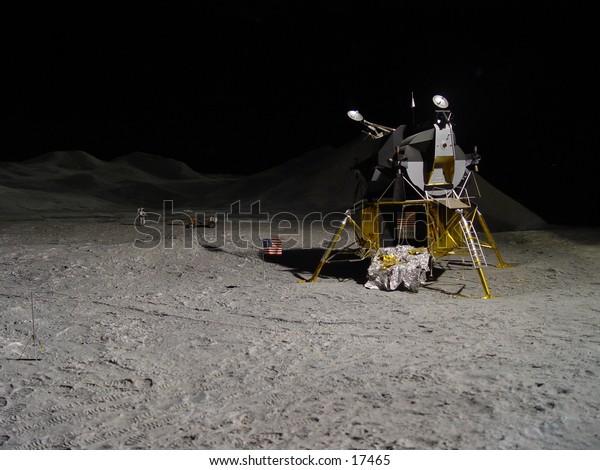 Lunar module landed on the moon
