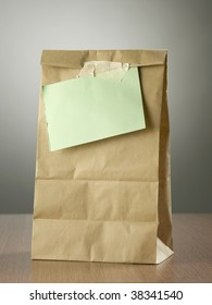 lunch bag with note on it