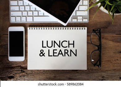 LUNCH AND LEARN sketch on notebook