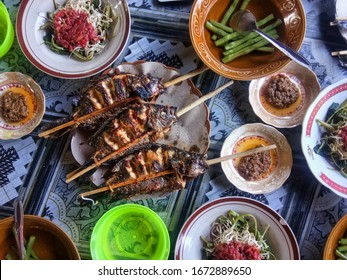 Lunch set in Lombok, Indonesia