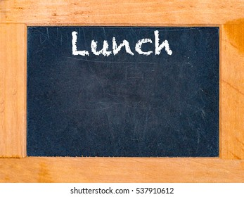 Lunch time chalk board vintage chalk table