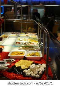 Lunchtime buffet within supermarket in Geneva, Switzerland
