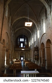 Lund, Sweden. 7 November 2018. The interior in the Lund Cathedral - various detailed parts.